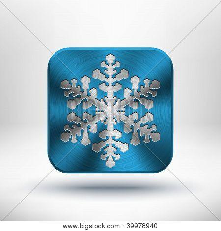 Christmas metal snowflake icon