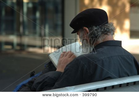 Homeless Reading The Bible