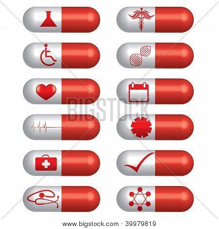 Medical Banner Set Pills