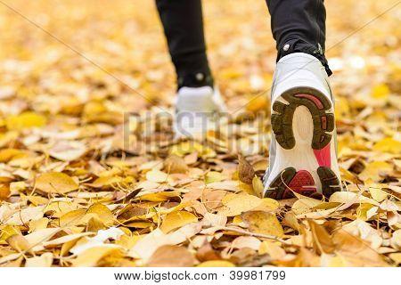 Concepto del deporte Footing