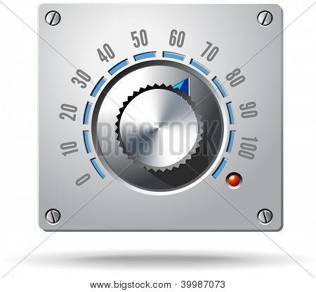 Analog Control Electronic Regulator Knob Vector