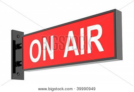 On Air Sign On White Background