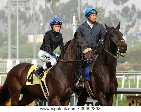 Female Jockey Eliska Kubinova And