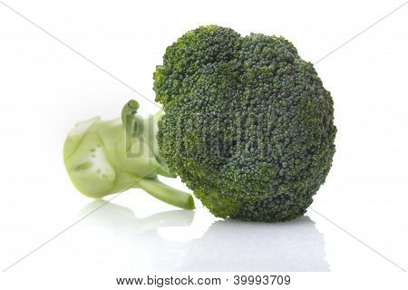 brocoli on white background