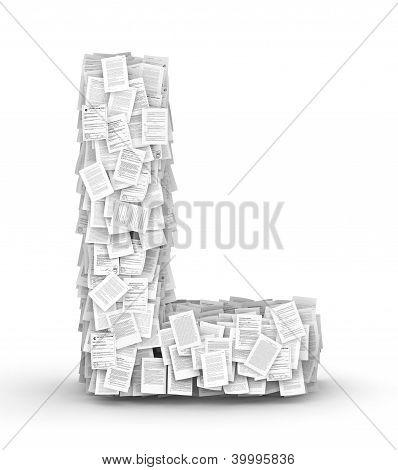 Letter L, page documents font