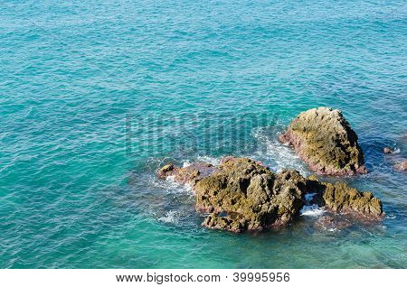 Rocks in the sea