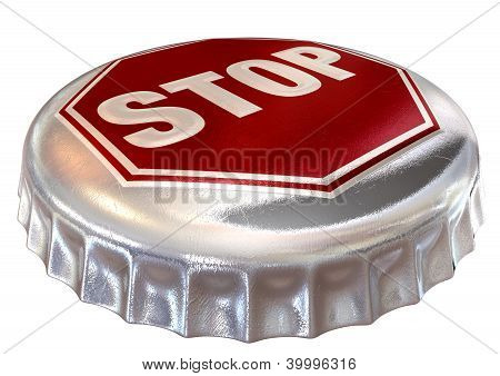 Capped Limit Stop Sign Cap