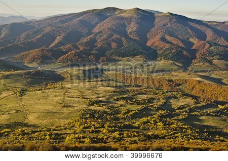 East Beskids In Autumn. Carpathian Mountains