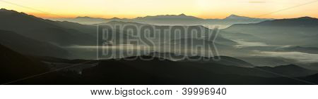 Dawn Above Highest Ukrainian Peaks