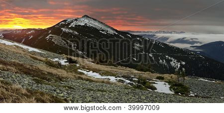 Dawn In Gorgany Mountains