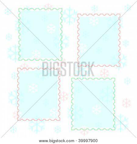 pastel snowflake scrapbook