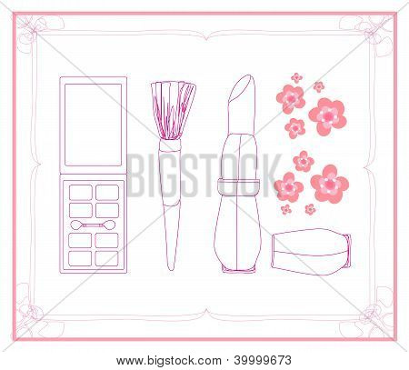 Cosmetics Set, For Fashion Design