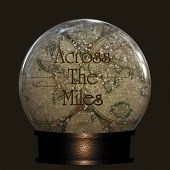 Across The Miles, Old World Map In A Snow Globe