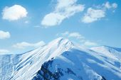 Winter Mountains On A Bright Sunny Day poster