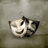 picture of pantomime  - Theater masks - JPG