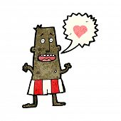 foto of boxer briefs  - cartoon man in love wearing boxer shorts - JPG