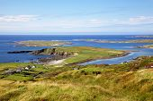 stock photo of galway  - View from the Sky Road, near Clifden in County Galway, Ireland.