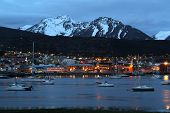 stock photo of tierra  - View of the port of Ushuaia - JPG