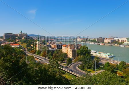 Summer Panorama Of Budapest, Hungary