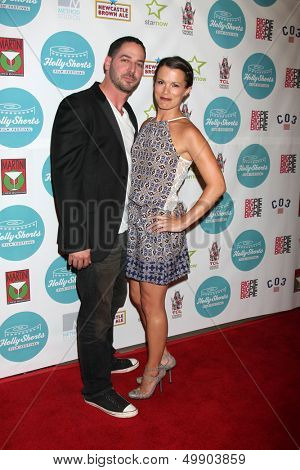 LOS ANGELES - AUG 17:  Matt Katrosar, Melissa Claire Egan at the HollyShorts Film Festival  at the TCL Chinese 6 Theaters on August 17, 2013 in Los Angeles, CA