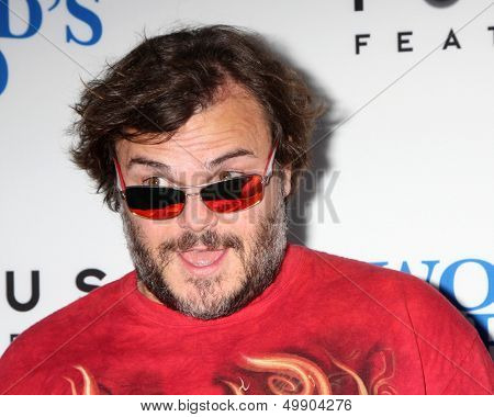 """LOS ANGELES - AUG 21:  Jack Black at """"The World's End"""" Premiere at the ArcLight Hollywood Theaters on August 21, 2013 in Los Angeles, CA"""