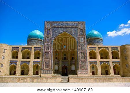 Mir-i Arab madrasah-element of the Kalyan ensemble. BuKhara. Uzbekistan.
