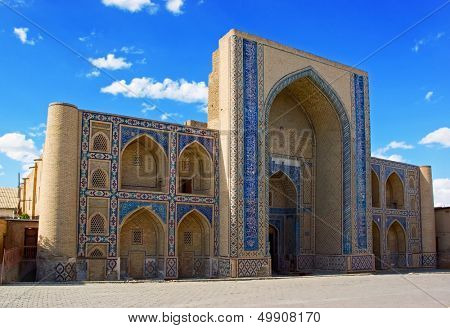 Ulugh-beg Madrasah, 1417,  famous historic  building in Bukhara Uzbekistan