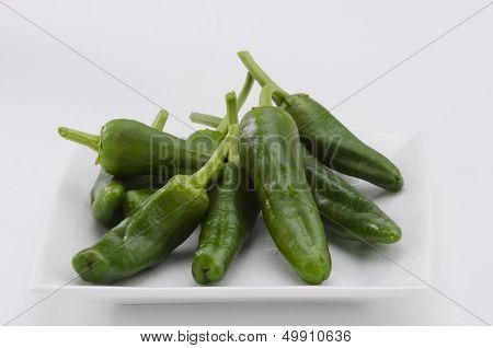 Green Peppers. Pimientos Del Padron.