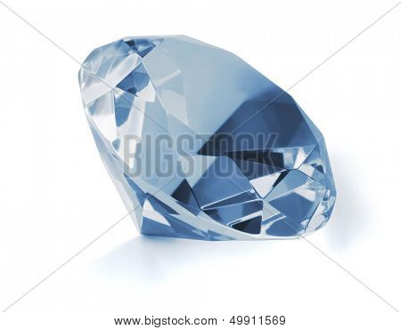 Blue diamond isolated on white
