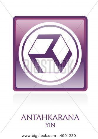 Antahkarana Yin Icon Symbol