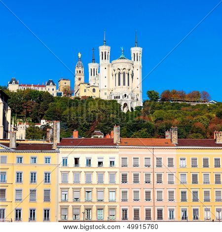 Famous View Of Notre Dame De Fourviere