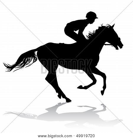 Jockey On Horse 2