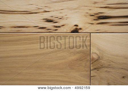 Character Grade Hickory Flooring Close Up