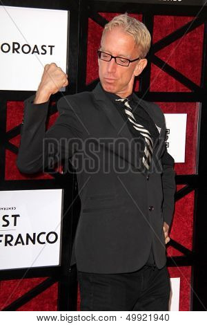 LOS ANGELES - AUG 25:  Andy Dick at the Comedy Central Roast Of James Franco at the Culver Studios on August 25, 2013 in Culver City, CA