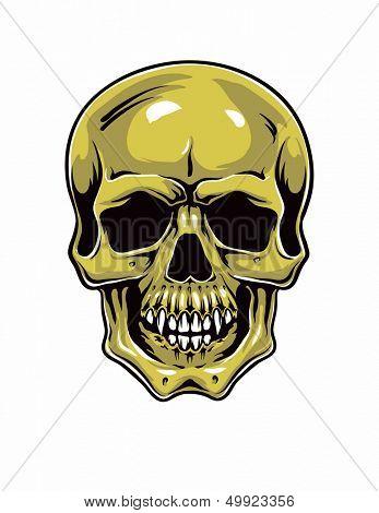 Cartoon Skull . hand drawn Jpeg version