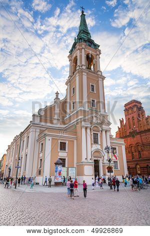 TORUN, POLAND - AUG 15: Church of Holy Spirit in old town of Torun on 15 of August 2013. Torun is one of the oldest cities in Poland and the birthplace of the astronomer Nicolaus Copernicus.