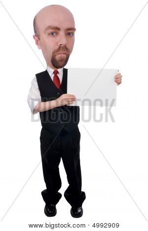 Businessman With A Blank Sign