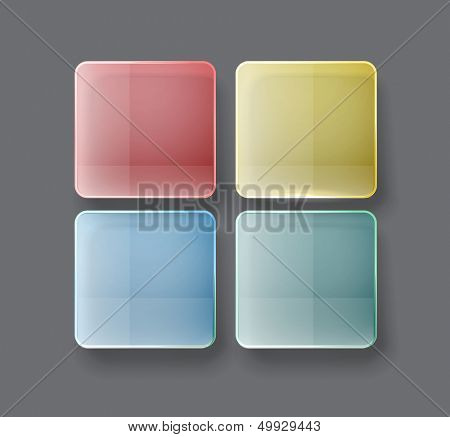 Abstract tile interfase template