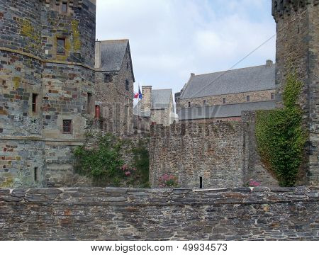Detail of the castle of Vitre in Brittany France