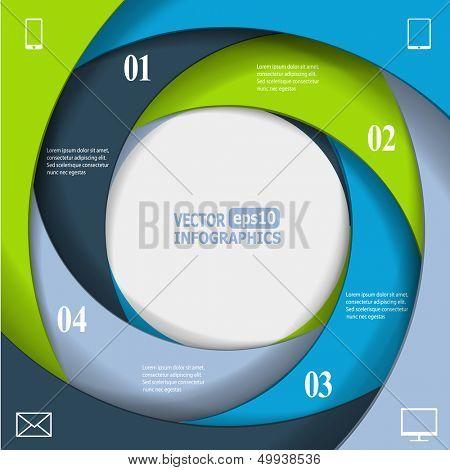 Modern business infographic banner. Vector eps10 illustration