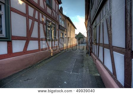 Narrow Alley In Seligenstadt