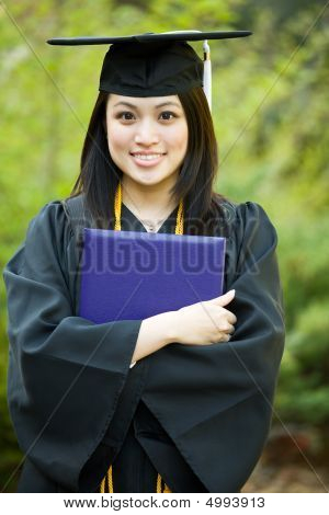 Abschluss-Mädchen