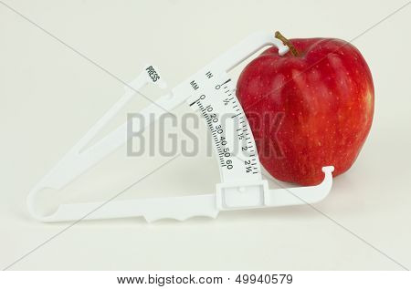 Apple With Caliper