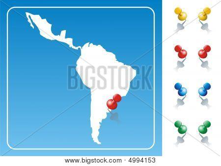 Ilustración de mapa de América Latina