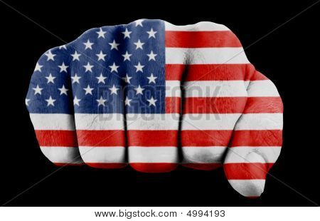 Fist With Us Flag