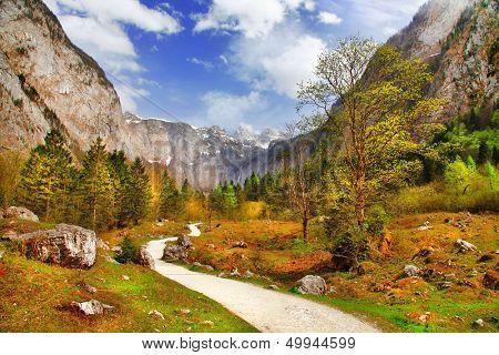 autumn in Alps, Bavaria