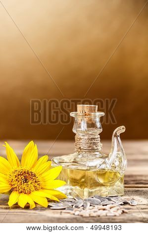 Oilcan Of Sunflower Oil