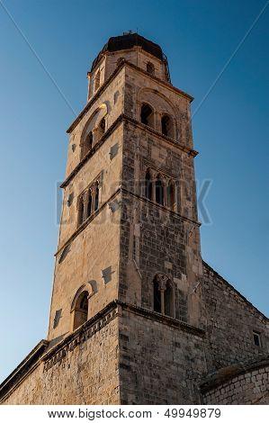 Old Bell Tower In Dubrovnik, Croatia
