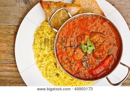 Beef Rogan Josh Balti Dish