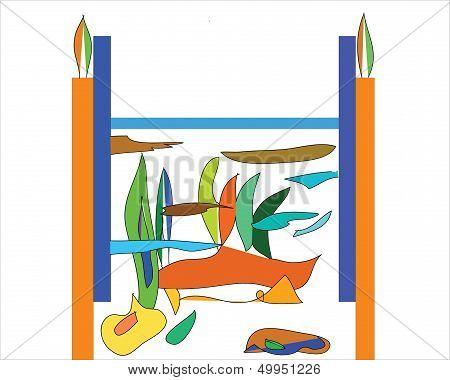 easel frame, transparency,